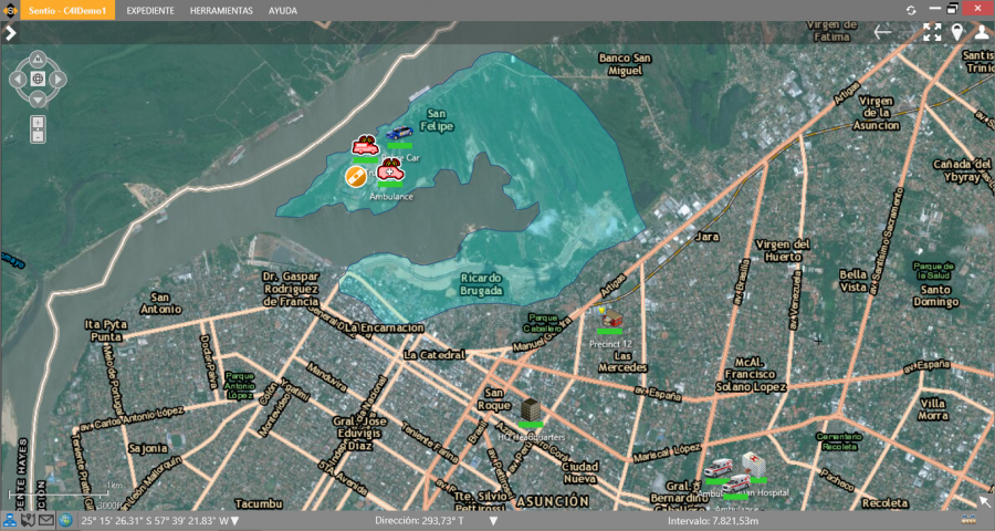 Sentio Screen Shot 2 - Flooded Area and Drowning Victim Incident