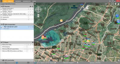 Sentio Screen Shot 7 - City Overview with Overlay Filters Displayed